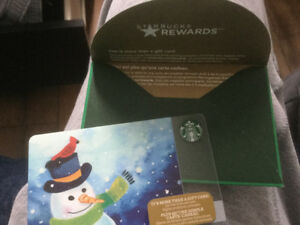 Carte cadeau Starbucks gift card Starbucks valeur 1000$