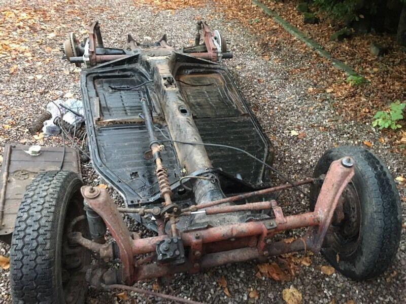 1968 vw beetle shortened floorpan    chassis kitcar beach