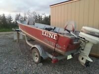 LUND Aluminum Fishing Boat Package