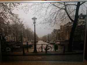 IKEA VILSHULT Amsterdam picture poster ready to hang. new condit