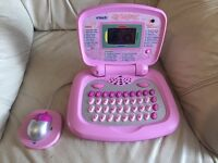 Pink V Tech interactive Toy Laptop