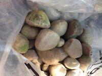 17 Bags Of Garden - Landscaping Cobblestones - Pebbles