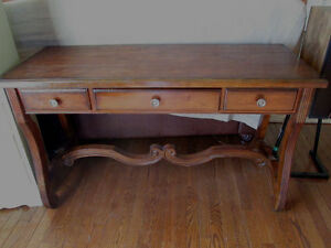 Beautiful Rustic Pine Console Table or Desk