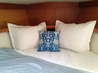 NEW Boat Bedding Products - Cinches Fully On Boat Cushions