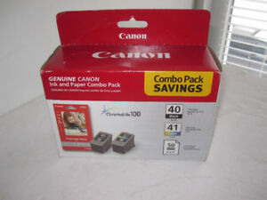 Canon 40 41 Combo ink and paper pack, NEW