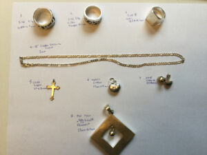Mens and women's silver jewellery