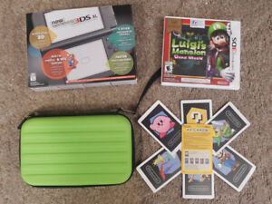 New Nintendo 3ds xl (with case, AR cards and game);(like new)