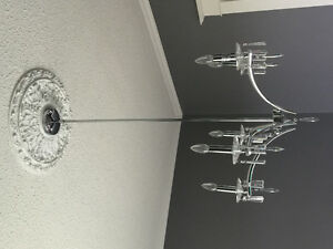 Pair of Beautiful contemporary glass chandeliers