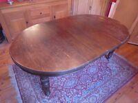 Antique Solid Oak extending table