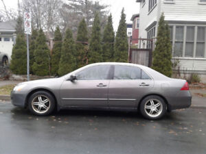 Honda Accord with full set of winter tires on rims