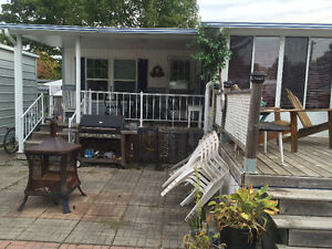 Trailer in Port Elgin. Double lot price of single lot