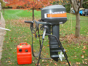 Mariner 30 HP Two Stroke Outboard in Excellent Condition Windsor Region Ontario image 1