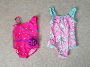 Girls bathing suits **6-9 months AND 24 months**