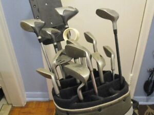 golf clubs and putter