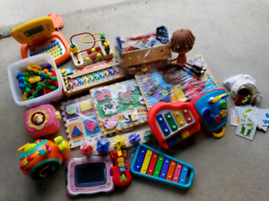 Assorted little kids' toys