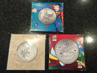$20 for $20 Canadian silver coins SUPERMAN/BUGS BUNNY/FIFA