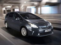 P C O cars rent for or H I R E or rent toyota prius plus ready for U_B_E_R from £140