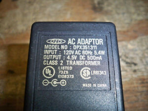 Genuine CHD DPX351311 AC Adapter Power Supply Charger 4.5V 500mA
