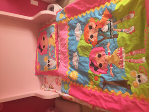 "Four piece "" Lalaloopsy"" toddler girl bedding set"