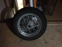 """Take off HD 16"""" laced rear wheel, tire, and rotor - From 04 FXDL"""