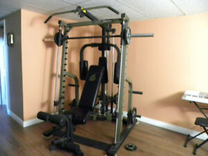 Nautilus Smith Machine,Lat Tower,Pec Deck,Bench, Leg Ex, Weights