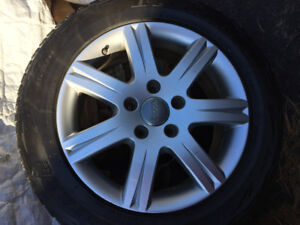 Winter Tires on Audi Rim