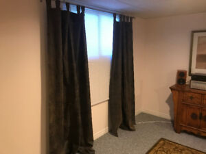 Black-out pleather curtains - 2 panels