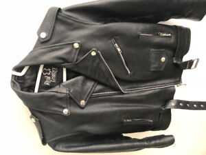 100% real leather biker jacket for women. Great deal $50