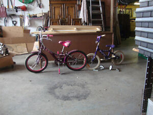 2 bikes hanna montana 20 inch and next  is 12 inch Windsor Region Ontario image 1
