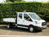 2017 (66) FORD TRANSIT 350 DRW 7SEAT CREW CAB / DOUBLE CAB ONE STOP 9'9 TIPPER
