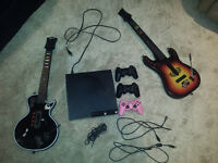 Playstation 3, controllers, guitar hero guitars, PS MOVE