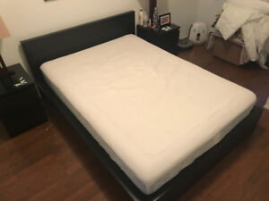 Full bed with a memory foam matress