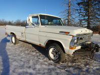 1972 ford 4x4 1/2 ton truck lwb fleetside 390 4spd locking hubs