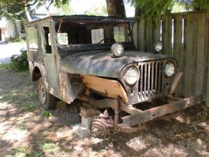 Willy's CJ-5 JEEP 1957 NICE SOLID PROJECT CJ-5 Jeep