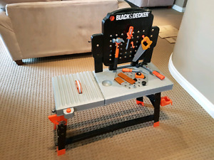 Black and Decker Toy Tool Set and Workbench