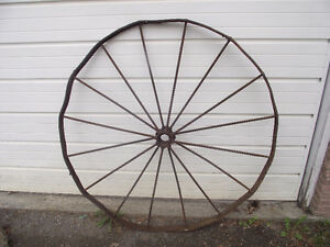 Antique Steel Cart or Wagon Wheel
