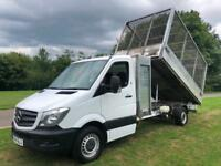 Mercedes Sprinter 313Cdi 3.5T LWB (Transit LWB Size) Caged Tipper With Toolbox