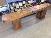 ONE OF A KIND BARN BEAM BENCH!!!