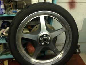 Front rim tire 19 inch and brake disc