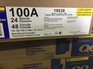 panneau electrique 100 amp square d neuf