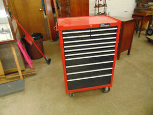CRAFTSMAN RED TOOL BOX 12 DRAWERS ON WHEELS  ON HOLD