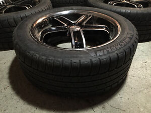 """Great condition 18"""" 5 spoke rims with good tires"""