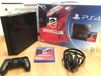 Black PS4 500GB With Driveclub for sale
