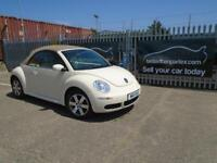 2011 (11) VOLKSWAGEN BEETLE LUNA CONVERTIBLE CREAM LOW MILEAGE