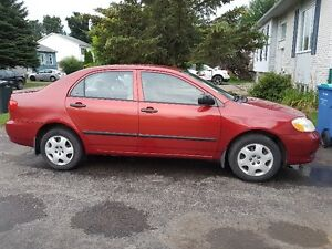 2003 Toyota Corolla, 5speeds,132K,A/C,Low Millage,Ready to drive