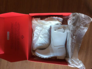 HUNTER - Women's Original Short Rain Boots (White, Matt, size 9)