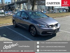 2015 Honda Civic EX + CERTIFIED + NO ACCIDENT + LOCAL!