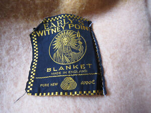 VINTAGE EARLY'S WHITNEY FOUR POINT PALE GOLD WOOL BLANKET