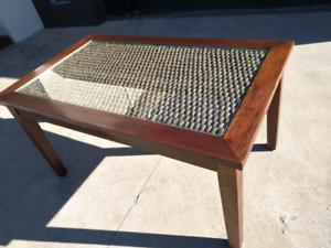 Rattan/wicker dining table
