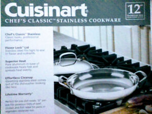 "12"" CUISINART Pan with Cover...... ""CHEF'S CLASSIC"""